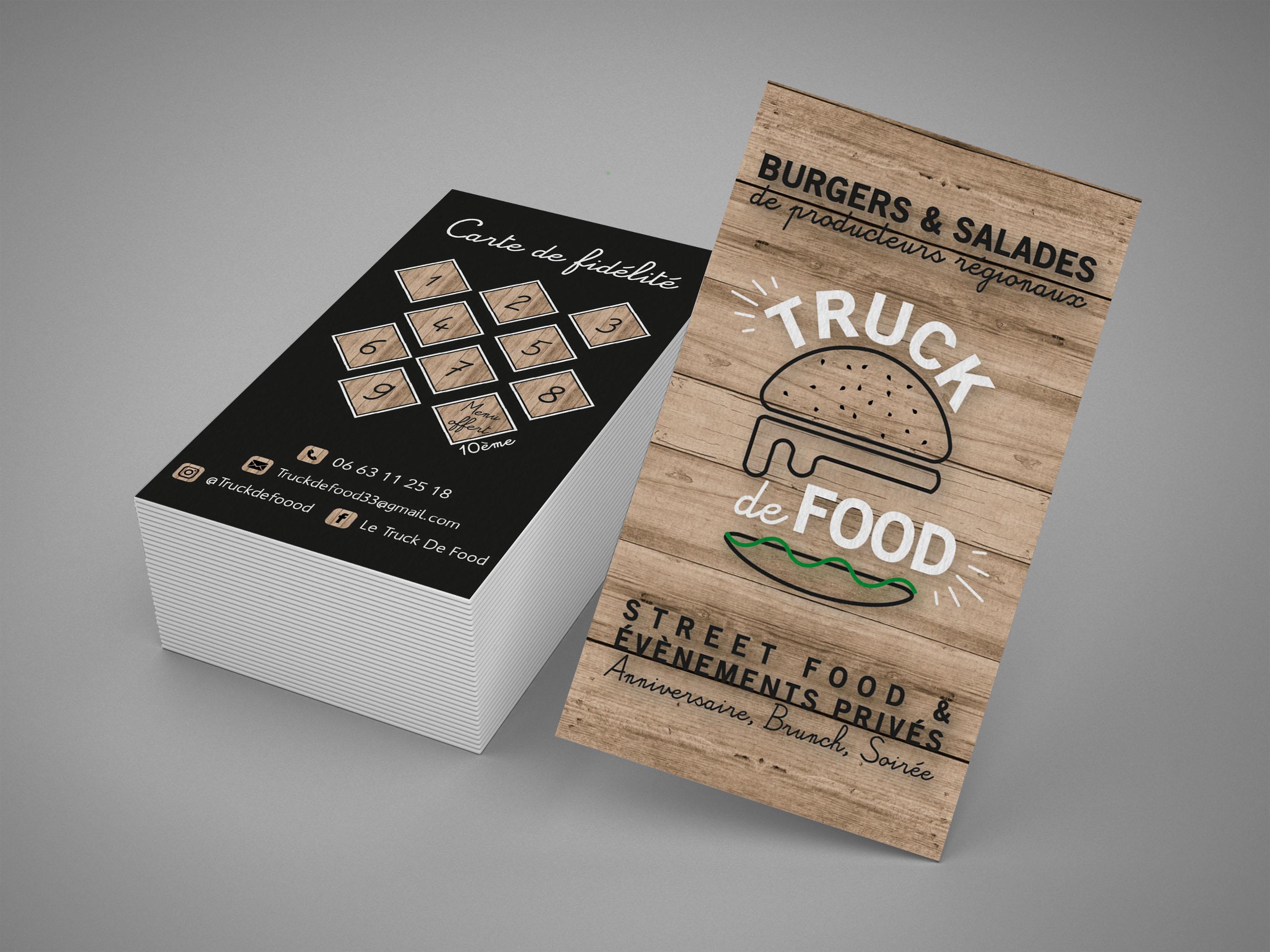 Carte fidélité  Truc de Food Mock up Tube Graphisme