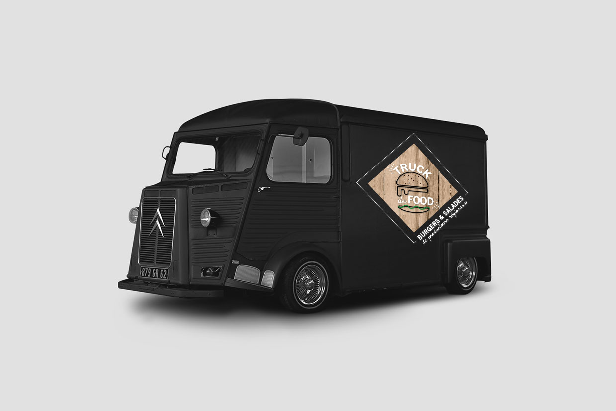 Citroen Tube Mock Up Truck de Food Graphisme