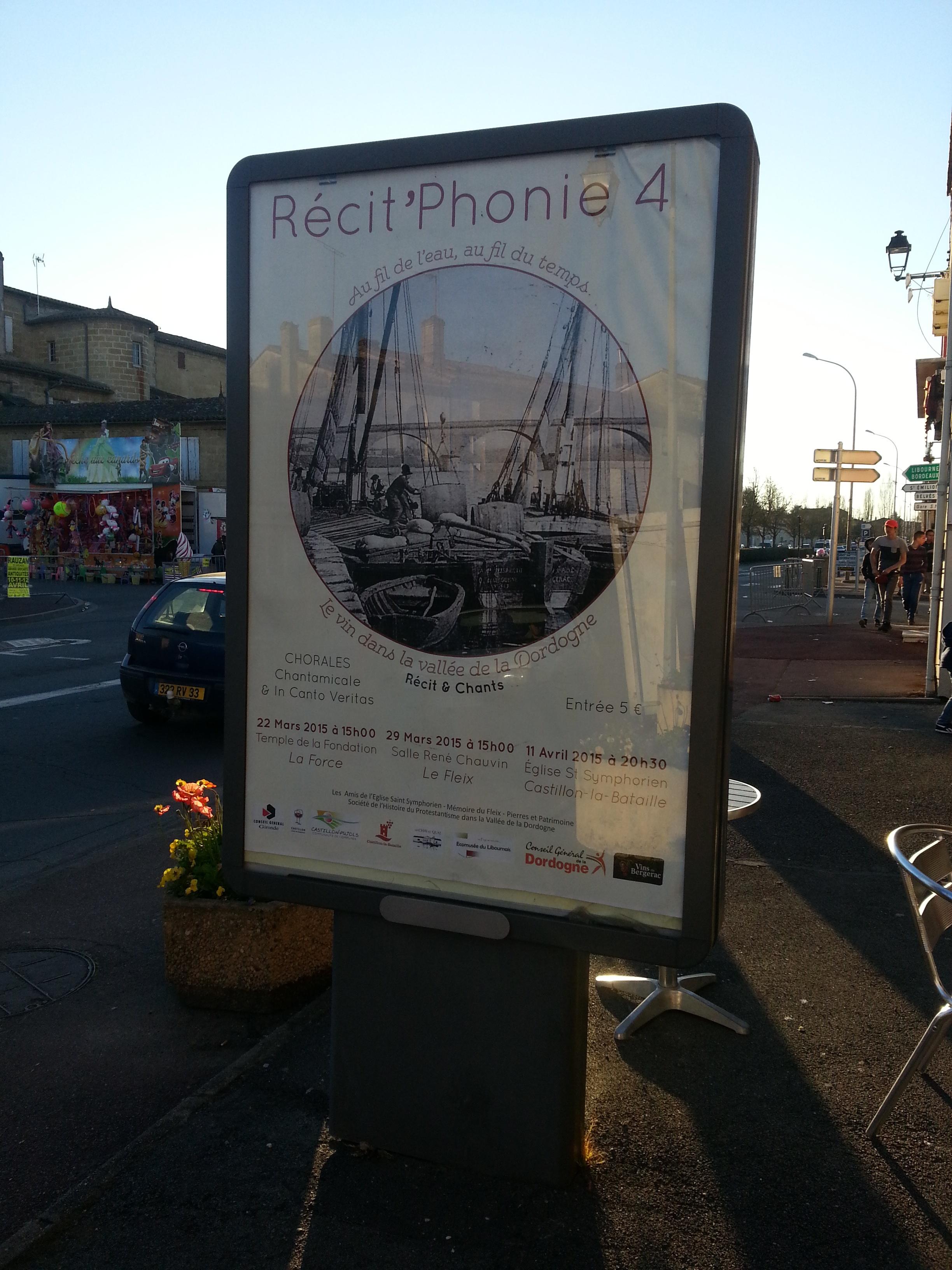 Affiche Recit'Phonie Panneau publicitaire
