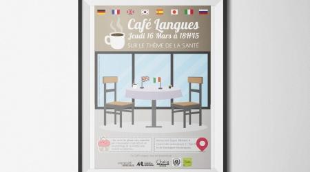 Affiche cafe langue pessac