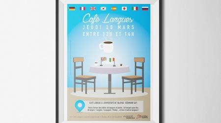 Affiche cafe langue talence