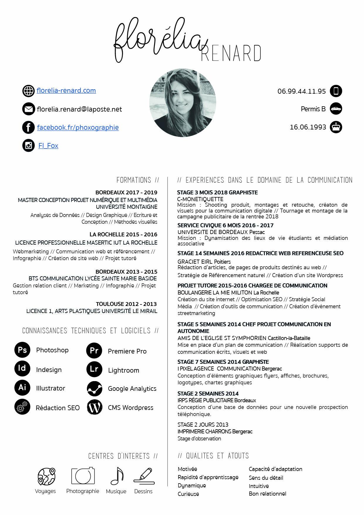 CV - Florélia Renard